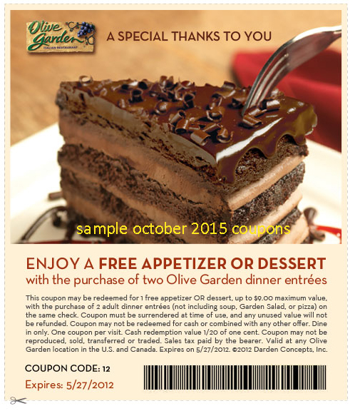 photo relating to Olive Garden Printable Coupons known as Printable olive yard discount codes / Colonic irrigation and