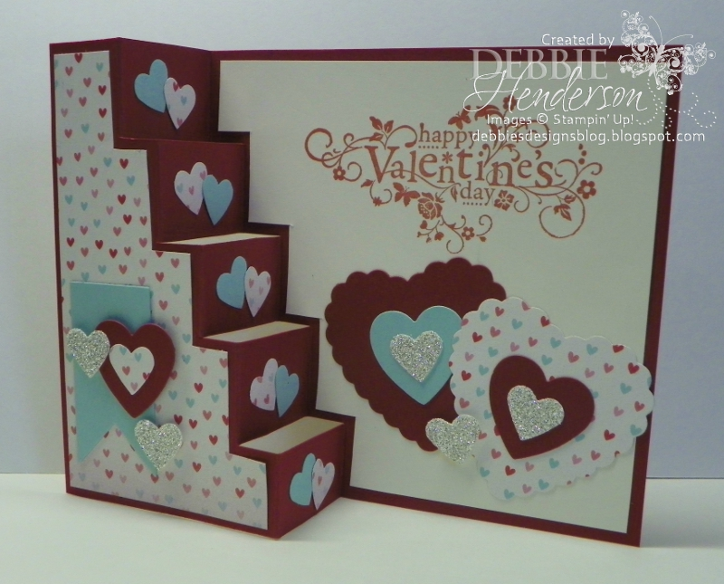 Debbie\u0027s Designs Free Friday\u0027s-Valentine\u0027s Vertical Step Card!