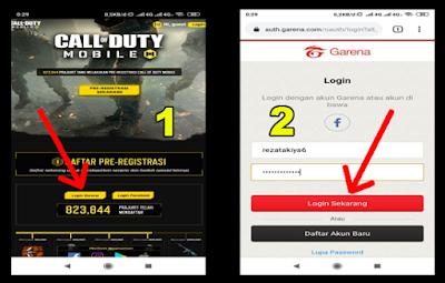 cara daftar call of duty mobile di android