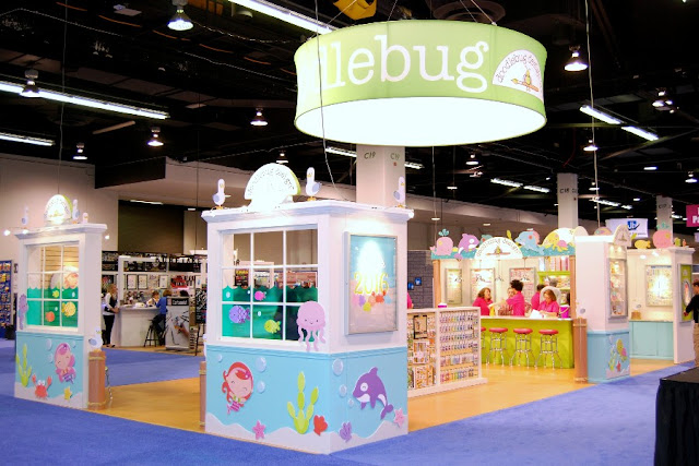 "Doodlebug Design: CHA 2016 Booth with an ""Under The Sea"" theme"