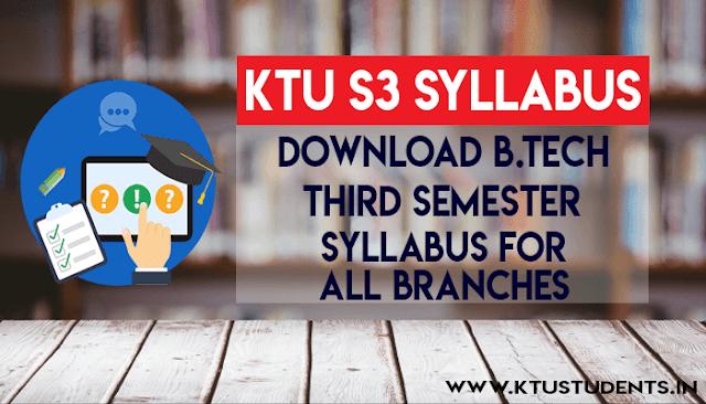 s3 syllabus ktu