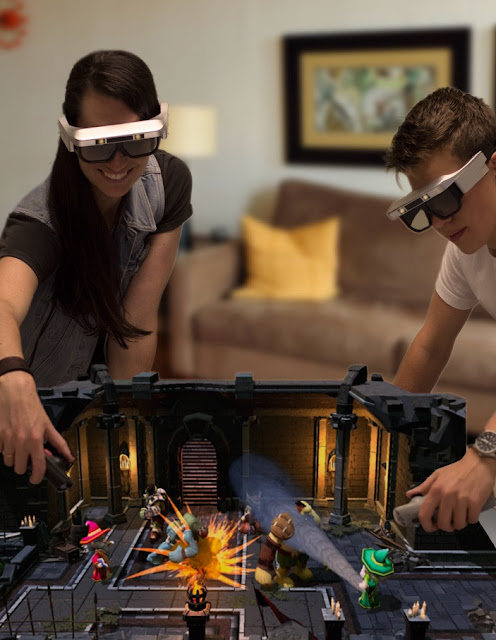 Tilt Five fuses Holo-AR (augmented reality) to tabletop games: 3D-holographic-AR-VR-MR games
