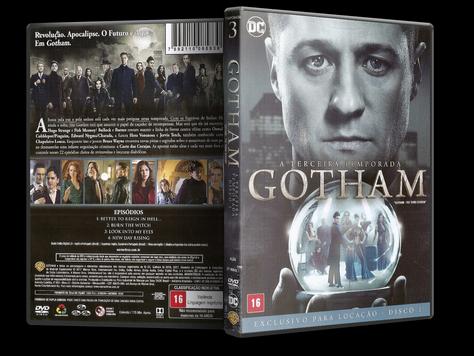 Capa DVD Gotham - Terceira Temporada - Disco 1