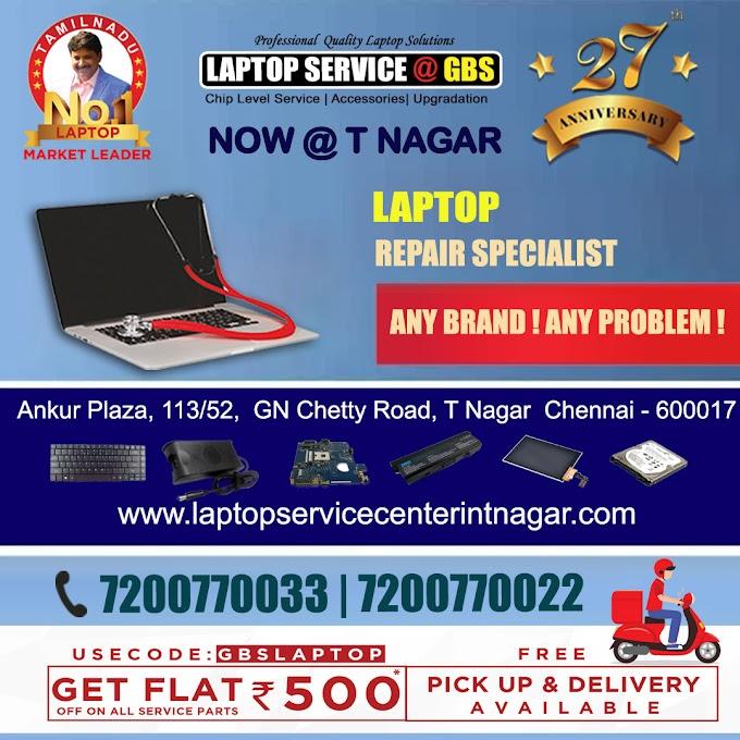 Laptop Service in T Nagar Chennai