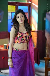 Actress Richa Panai Stills in Half Saree at Rakshaka Bhatudu Sets  0018.JPG