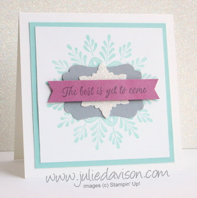 Stampin' Up! Frosted Medallions Happy New Year card #stampinup www.juliedavison.com from the 2016 Stampin' Up! Holiday Catalog
