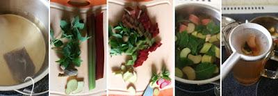 Zubereitung Rhabarber-Ingwer-Eistee