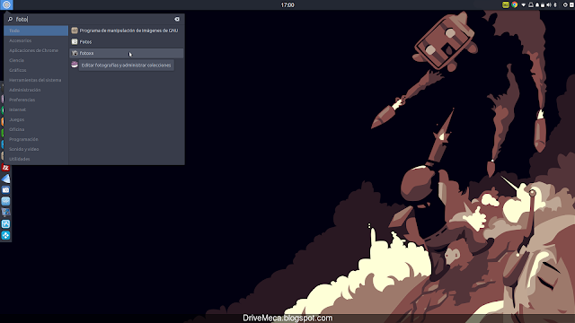 Ejecutamos Fotoxx en Linux Ubuntu Budgie menu