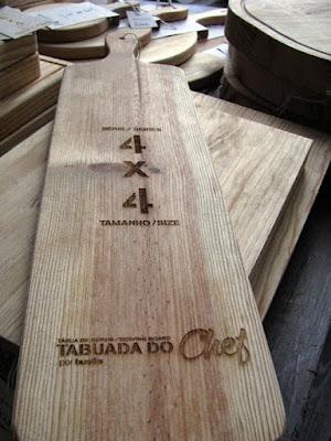 tábua de madeira personalizada com gravação a lazer