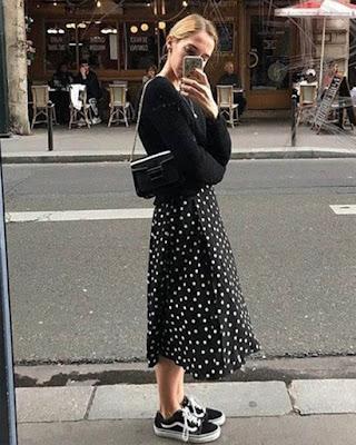 faldas midi negra tumblr de moda