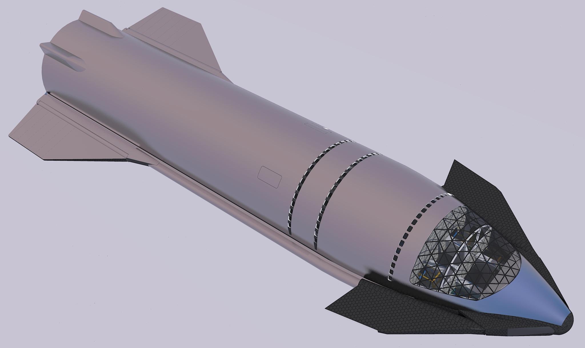 SpaceX Starship interior concept for 100 passengers | human Marshuman Mars