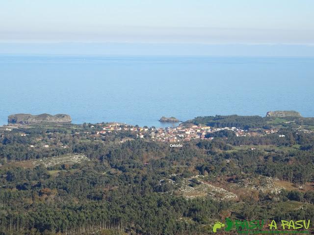 Vista desde Celorio desde Collado la Prida