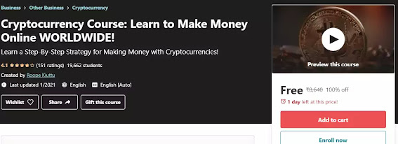 Cryptocurrency Course – Learn to make Money Online World