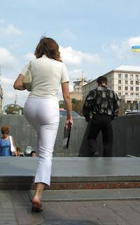 Mujer calle calzon marcado pantalon