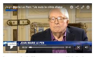 je viens d'avoir dans mes hauts parleur d'ordinateur un interview de Le Pen au sujet de perquisition à son domicile du 16 ou 17 février 2016 demandé par le parlement européen ...  il est 10 h 36 mn le 18 02 2016 ...