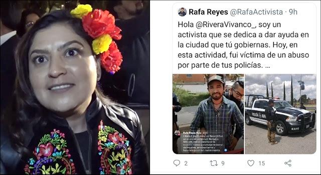 "Claudia Rivera hace ""oídos sordos"" a denuncia de activista por agresión de policías municipales"