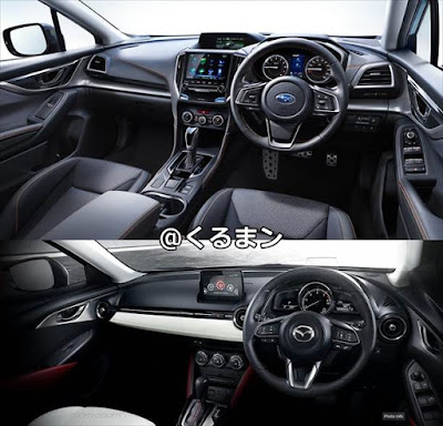 新型XV CX-3 内装インテリア 写真比較