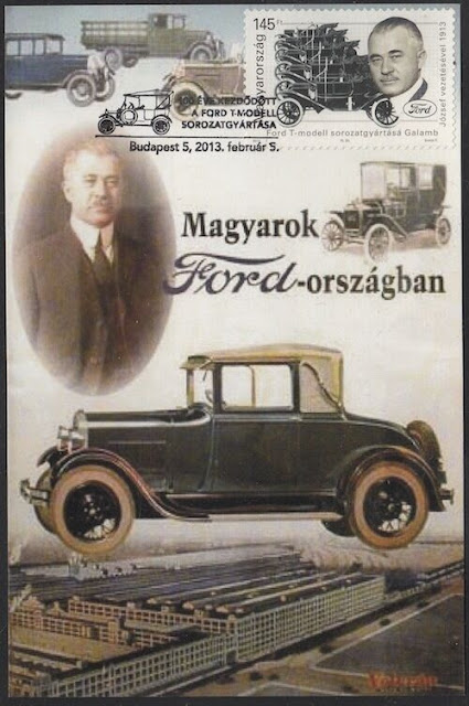 The Ford Motor Company ships its first automobile Hungary