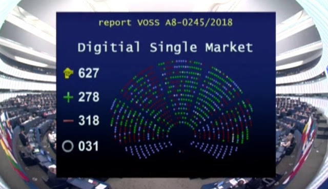 El Parlamento Europeo rechaza la reforma del 'copyright' que reclamaban los creadores