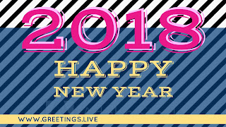 Creative idea Pattern style Happy  new year 2018 wishes