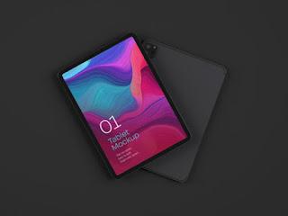 iPad Pro Front and Back Mockup