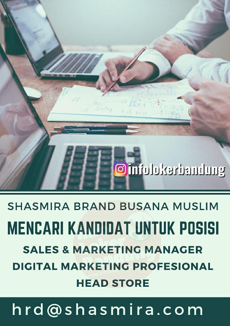 Lowongan Kerja Shasmira Brand Busana Muslim Bandung November 2019