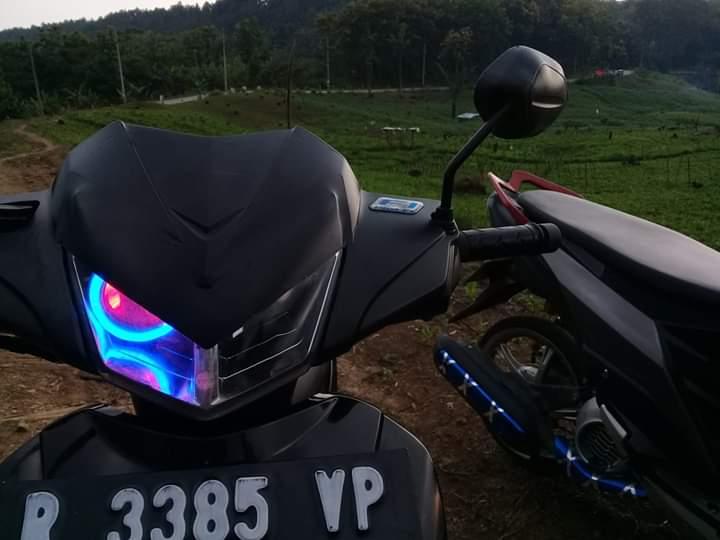 Modifikasi Supra X 125 Dengan Lampu Projie Gresik Post