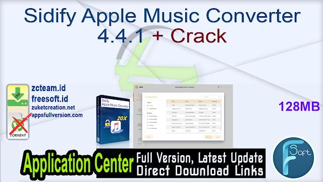 Sidify Apple Music Converter 4.4.1 + Crack_ ZcTeam.id