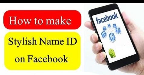 FB Stylish Name Trick] How to create stylish name id on