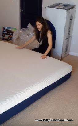 happy customer with her new amerisleep mattress