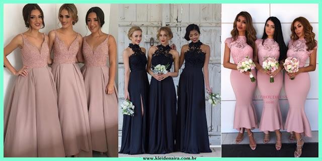 Vestidos para Madrinhas de Casamento - Inspirações