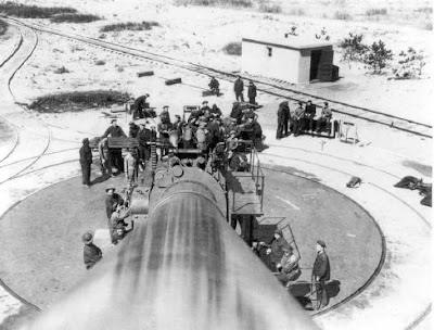 "Looking down barrel of large 16"" anti-ship artillery gun on beach of Fort Tilden"