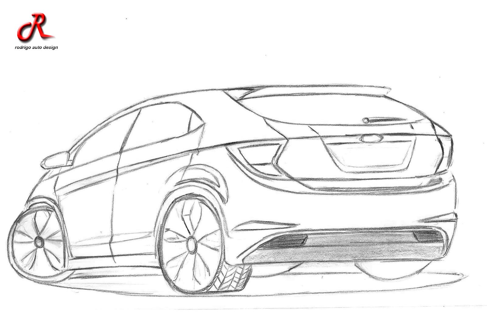 Rodrigo auto Design: Desenhos a Mão ! Ford Ka