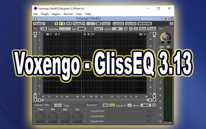 GlissEQ 3.13 by Voxengo  VST, VST3, AAX, AU WIN.OSX x86 x64