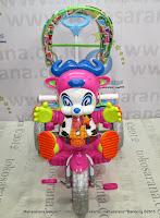 Sepeda Roda Tiga Royal RY9682C Cowboy Ban Jumbo Dobel Musik-Pink