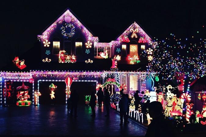 Decoración navideña casas estados unidos