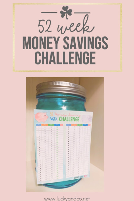 52 Week Money Savings Challenge FREEBIE | Lucky & Co Life