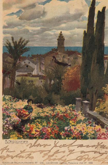 Bordighera, cartolina del 1903