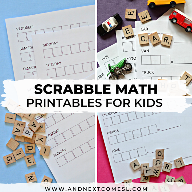 Scrabble math worksheets