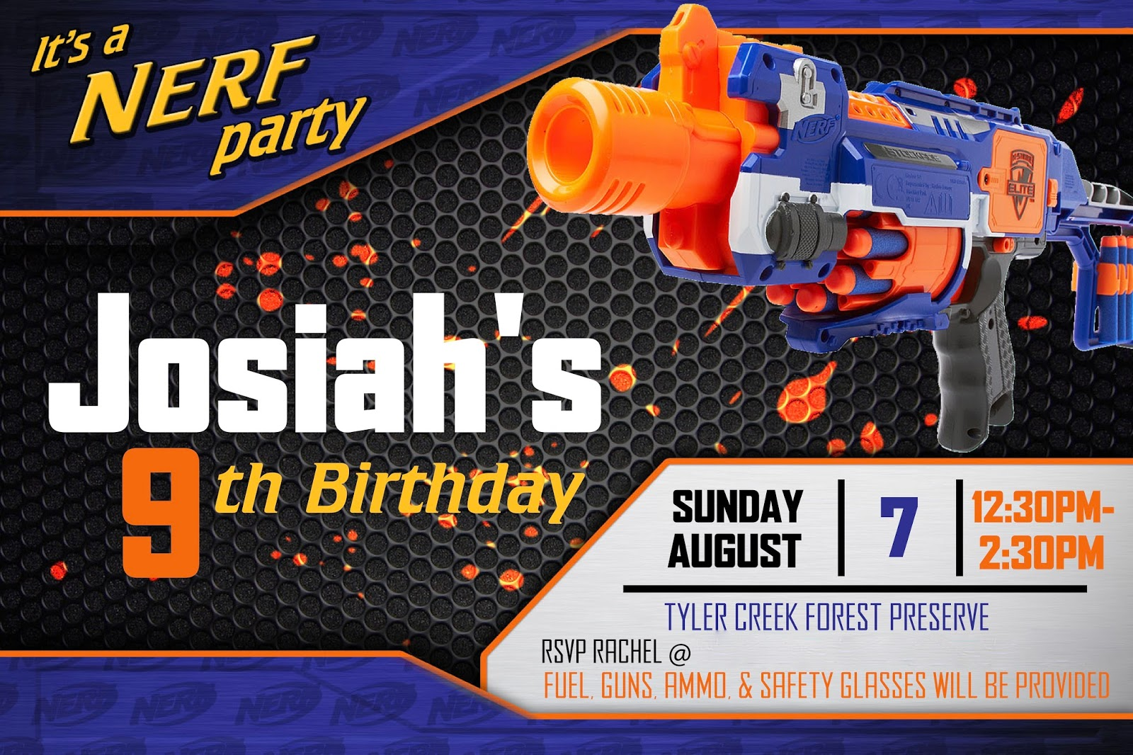 Nerf War Party Invitations were Inspirational Ideas To Create Beautiful Invitation Ideas