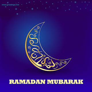 ramadan Crescent moon background Ramadan Mubarak Ramadan Eid 2019 greetings