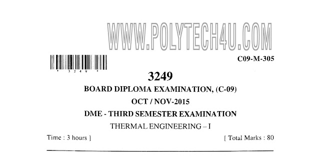 ME C-09 THERMAL ENGINEERING OLD PAPERS