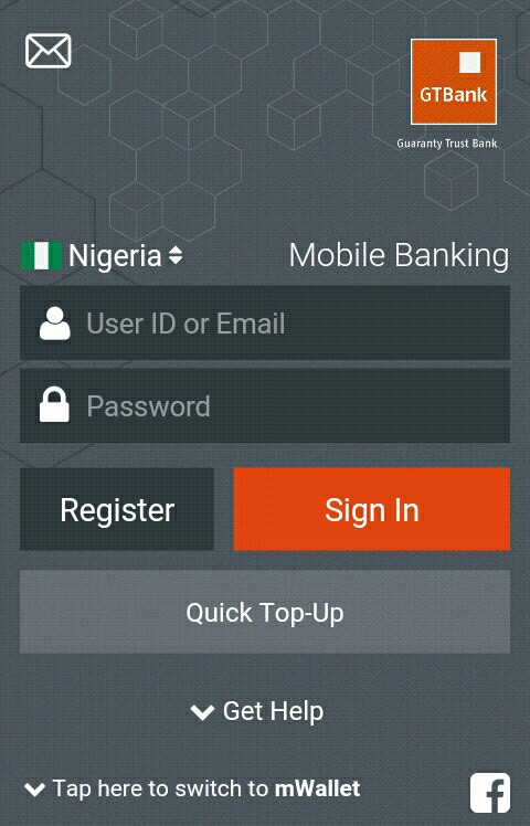 how to open gtbank online on mobile phone