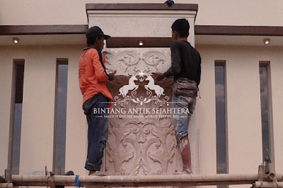 Contoh Pesang Dinding Marmer