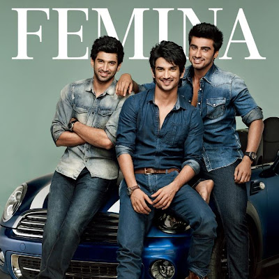 Aditya Roy Kapur,Sushant & Arjun Kapoor on the cover page of upcoming Femina Issue