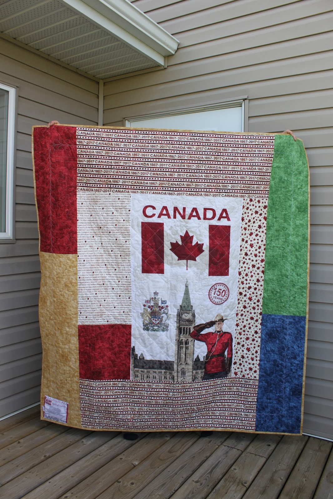Daydreams of Quilts: Canadian Flag in a Pixelated Heart Quilt of ... : quilt fabrics canada - Adamdwight.com