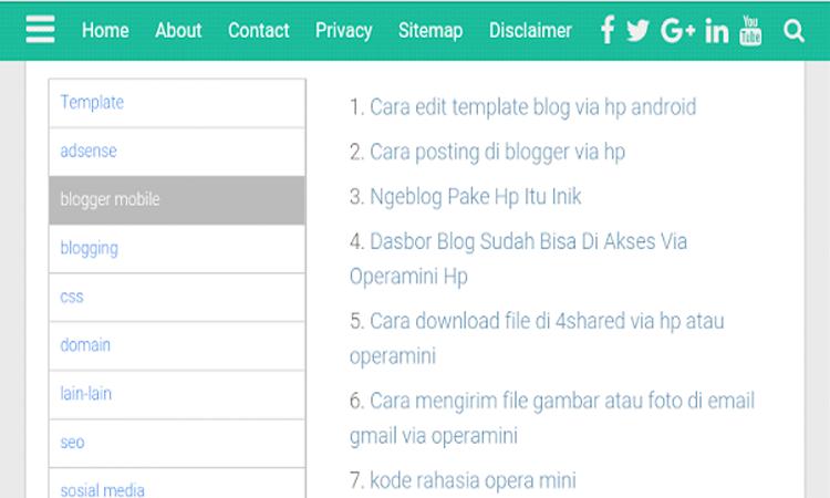 Membuat Sitemap di Blog
