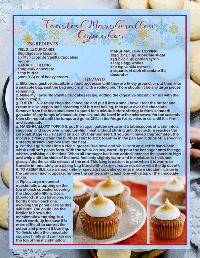 TOASTED MARSHMALLOW CUPCAKES RECIPE