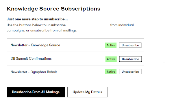 Preference Management for email subscriptions