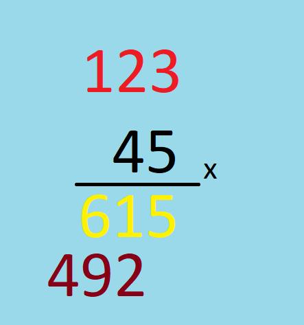 Cara menghitung perkalian dengan susun ke bawah